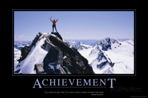 Achievement inspirational posters