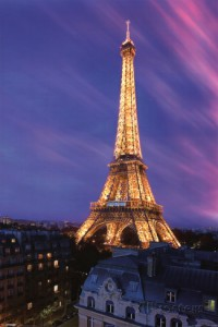eiffel tower paris travel poster
